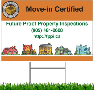 A lawnsign to help attract buyers to a pre-inspected property