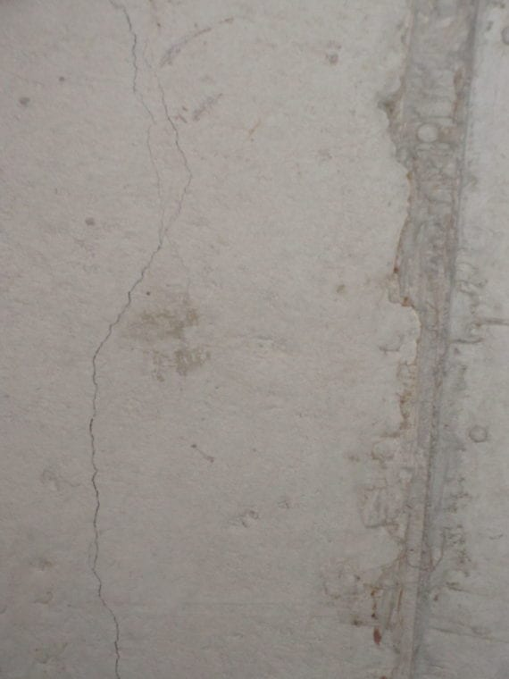 poured concrete cracks