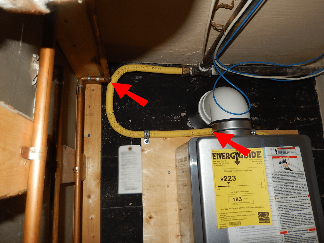 Home Inspection Gas Pipe Danger